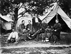 1865 Freed Slave with Union Soldiers Unusual Photo