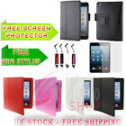 LEATHER FLIP CASE COVER WITH FREE SEREEN PROTECTOR &STYLUS  FOR APPLE IPAD MINI