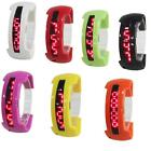 Fashion Men Women Silicone Band Alloy Plastic Case Digital LED Sport Wrist Watch