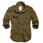 SURPLUS VINTAGE ARMY PARATROOPER TACTICAL COMBAT LONGSLEEVE BROWN SHIRT TOP