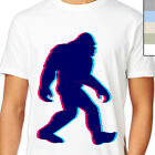 TRIPPING YETI T-SHIRT. Gone 3D LSD Squatchin, Unique Indy Bigfoot Artwork, Real