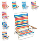 Rio High Back Beach Chair - 5 position LayFlat (Choose Color)