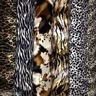 """ANIMAL PRINT VELBOA FAUX FUR VELOUR FABRIC CRAFT MATERIAL 60"""" WIDE"""