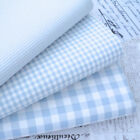 KENT 2 BABY BLUE YARN DYED GINGHAM - 9mm 3mm 1mm CHECK COTTON FABRIC bunting