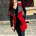 Korean New Splicing Color Women's Long Sleeve Slim Fit Zipper Coat Jacket Solids