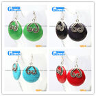 cute 29mm coin beads tibetan silver dangle earrings fashion jewelery for women