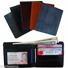 Genuine Eel Skin Leather Billfold Wallet Men's Standard Purse (5 Colour)