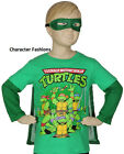 TEENAGE MUTANT NINJA TURTLES 2T 3T 4T Boys SHIRT TEE TOP CAPE MASK Long Sleeves