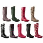 New Ladies Festival Rain Waterproof Wellington Winter Snow Boots UK Sizes 3-8