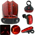 3/5 Red LED Bike Bicycle Cycle Cycling Tail Back Rear Light Torch Safety Lamp UK