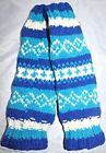 NEPAL HAND KNITTED 100% WOOL UNISEX  KID'S SKI LEG WARMERS