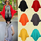 New Women Oversized Loose Knitted Sweater Batwing Sleeve Tops Cardigan Outwear L