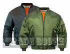 MENS MA1 FLIGHT BOMBER FLYING PILOT MILITARY SECURITY DOORMAN HARRINGTON JACKET