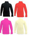 BRAND NEW GIRLS POLO NECK JUMPER TOP NEW RIBBED CHILDREN ROLL NECK TEEN 7-13 YRS