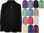 New Womens Plus Size Plain Zip Collar Jumper Top Ladies Knitted Cardigan 14 - 28