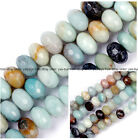 Faceted Rondelle Mixed Amazonite Jewelry Making loose gemstone beads strand 15""