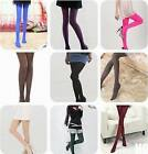 HO US Fashion Girl Women's Opaque Pantyhose Tights 100D Bright Candy Color