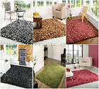 SMALL - X LARGE CHUNKY SOFT DYED COSY SHAGGY LUXURY MIX COLOUR TRENDY THICK RUG