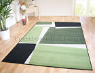SMALL- X LARGE LIGHT & DARK GREEN VOGUE PUZZLE GEOMETRIC SOFT CHEAP RUG MAT SALE