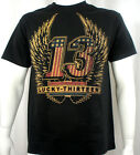 Lucky 13 shirt freedom wings limited edition motorcycle hot rod drag race biker