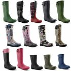 New Ladies Festival Rain Snow Waterproof Wellington Boots Winter UK Size 3-8
