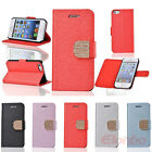 Fashion Diamond Flip Stand PU Leather Case Cover Skin For iPhone 5 5G 5S