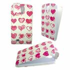 WHITE CASE WITH PINK HEARTS FLIP PU LEATHER CASE FOR SAMSUNG GALAXY S4 i9500