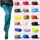 New Girls Women's Opaque Pantyhose Tights 100D Bright Candy Color Nylon