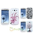 Spring Flower/Zebra/Tree Silicone Gel Case Cover For Samsung Galaxy S3 III i9300