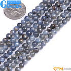 "Round Gemstone Natural Kyanite Beads Strand 15 ""Jewelry mMaking Beads 4mm 6mm"