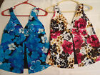Tropical Escape Size 8 10 or 12 Choice Flyaway Swim Tankini Swimsuit Top NWT