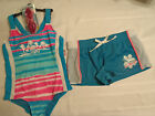 ZeroXposur Plus 18 1/2 or 14.5 One-Piece Swimsuit Shorts Set NWT Free Goggles