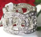 PCW4169   OPEN WAEVE SIMULATED DIAMOND RING WITH STONES ALL ROUND PRETTY