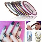 Vogue Mixed Colors Rolls Striping Tape Line Nail Art Tips Decoration Sticker DIY