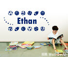 PERSONALISED/ Customise your kids name with sport balls wall sticker