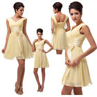 Sexy Bridesmaid Chiffon Ball Cocktail Evening Prom Party Graduation Short Dress