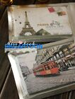 European Street Scenery Postcards Greeting Card- Iron Tower Red Bus