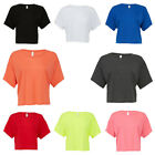 New BELLA CANVAS Womens Ladies Boxy Cropped Big Tee T Shirt 8 Colours Size 8-16