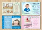 Christening - Baptism Girls & Boys - Multi Invitations Cards With Free Envelopes