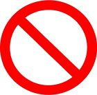 No Symbol Vinyl Decal Sticker Free Shipping