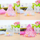 50 Nice Organza Bags Jewelry Pouches Patterned Wedding Party Favor M2202