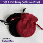 Luxury 100 Double Sided Velvet Gift Pouch-7.5x9cm-Round-Color Choices