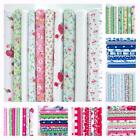 10 X HALF METRE REMNANTS OR 10 X METRE BUNDLE FLORAL DOTS POLY COTTON FABRIC