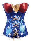 Sexy Wonder Woman Superhero Comic Costume Corset Bustier Size S-6XL GL A2366