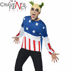 90s Fire Starter Costume The Prodigy Keith Flint Mens Fancy Dress Outfit New
