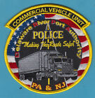 NEW JERSEY  PA PORT AUTHORITY COMMERCIAL VEHICLE UNIT POLICE SHOULDER PATCH