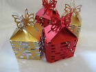 CHINESE NEW YEAR GOLD or RED FLAT PACKED JEWELLERY WEDDING GIFT BOXES 2 SIZES UK