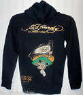 NWT Ed Hardy Dagger and Rose Boys Girls Hoodie M Black MSRP$119