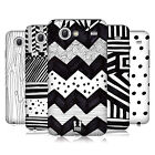 HEAD CASE DESIGNS BLACK AND WHITE DOODLE PATTERN CASE FOR GALAXY S ADVANCE I9070
