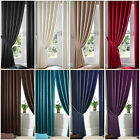 Jacquard Faux Silk Curtains - Ready Made Pencil Pleat Fully Lined Curtain Pair